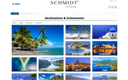 Site internet Schmidt Yachting 2